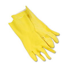 BWK242L - Flock-Lined Latex Cleaning Gloves - Large