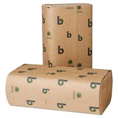 BWK53GREEN - Boardwalk Green Multifold Towels, Natural, 9 1/8 x 9 1/2, 250/Pack, 16 Packs/CT