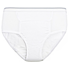 CAA6255-1A-WHT-3PK - Care ApparelCareActive® Mens Reusable Incontinence Brief 6 oz. 3-Pack
