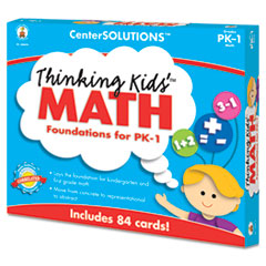 CDP140079 - Carson-Dellosa Publishing CenterSOLUTIONS® Thinking Kids™ Math Cards