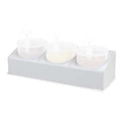 CFS030600CS - Carlisle3-Crock Condiment Station Kit