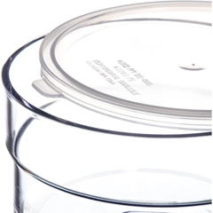 CFS036507CS - CarlisleSupreme Crock w/Lid 1.5 qt - Clear
