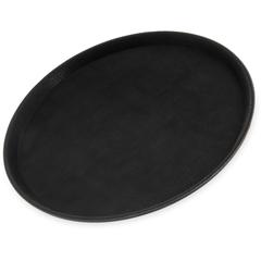 "CFS1400GL004CS - Carlisle - GripLite® Round Tray 14-5/8"" - Black"