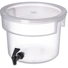 CFS221930CS - CarlisleRound Dispenser 3 gal - See Thru