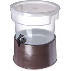 CFS222701CS - Carlisle - Round Dispenser w/Base 3 gal - Brown