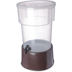 CFS222901CS - CarlisleRound Dispenser w/Base 5 gal - Brown