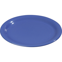 "CFS3300614CS - Carlisle - Sierrus Melamine Narrow Rim Salad Plate 7.25"" - Ocean Blue"