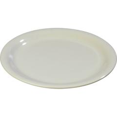 """CFS3300642CS - Carlisle - Sierrus Melamine Narrow Rim Salad Plate 7.25"""" - Bone"""