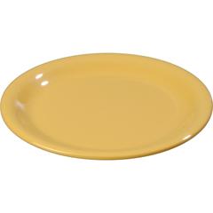 "CFS3300822CS - Carlisle - Sierrus Melamine Narrow Rim Pie Plate 6.5"" - Honey Yellow"