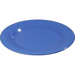"""CFS3301014CS - Carlisle - Sierrus Melamine Wide Rim Dinner Plate 10.5"""" - Ocean Blue"""