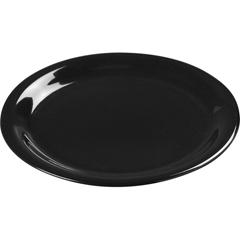 """CFS3301203CS - Carlisle - Sierrus Melamine Wide Rim Dinner Plate 9"""" - Black"""