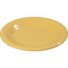"CFS3301822CS - Carlisle - Sierrus Melamine Wide Rim Pie Plate 6.5"" - Honey Yellow"