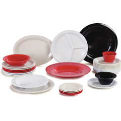 """CFS3302405CS - Carlisle - Sierrus Melamine Wide Rim Dinner Plate 12"""" - Red"""