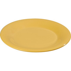 "CFS3302422CS - Carlisle - Sierrus Melamine Wide Rim Dinner Plate 12"" - Honey Yellow"