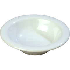 CFS3304202CS - CarlisleSierrus Melamine Rimmed Fruit Bowl 4.5 oz - White