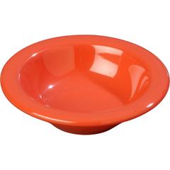CFS3304252CS - CarlisleSierrus Melamine Rimmed Fruit Bowl 4.5 oz - Sunset Orange
