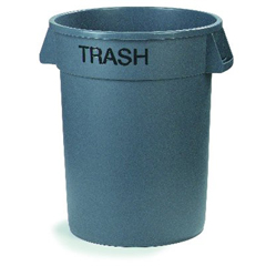 CFS341032TRA23CS - CarlisleBronco™ Round Trash Cans - Trash - 32 Gallon Capacity