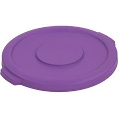 CFS34101189CS - CarlisleBronco Round Waste Bin Food Container Lid 10 Gallon - Purple