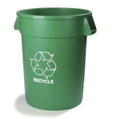 CFS341032REC09CS - CarlisleBronco™ Round Recycling Cans