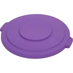 CFS34103389CS - CarlisleBronco Round Waste Bin Trash Container Lid 32 Gallon - Purple