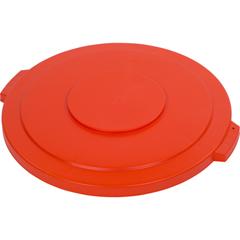CFS34104524CS - CarlisleBronco Round Waste Bin Trash Container Lid 44 Gallon - Orange
