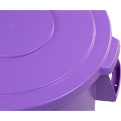 CFS34104589CS - CarlisleBronco Round Waste Bin Trash Container Lid 44 Gallon - Purple