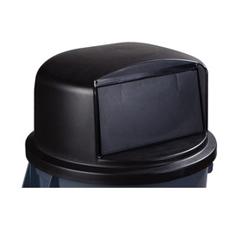 CFS34105703EA - Carlisle - 44-55 Gal Bronco Dome Lid - Black