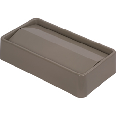CFS34202406CS - CarlisleTrimLine Rectangle Swing Top Waste Container Trash Can Lid 15 and 23 Gallon - Beige