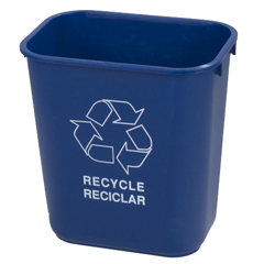 CFS342913REC14CS - CarlisleOffice Recycle Basket 13 qt - Blue