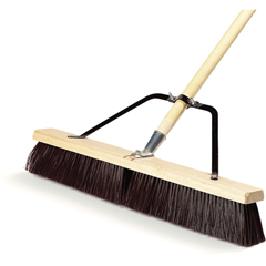 "CFS367366TC24CS - Carlisle24"" Medium Sweep w/Stiff Polypropylene Bristles Center  Softer Border 24"" - Black"