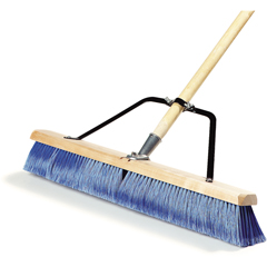 "CFS367382TC14CS - Carlisle - 24"" Fine Sweep w/Flagged Blue Plastic Bristles - Blue"