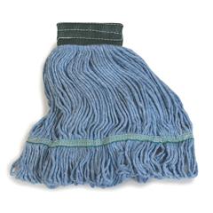 CFS369448B14CS - CarlislePremium Medium Blue Yarn Mop Heads with Green Band