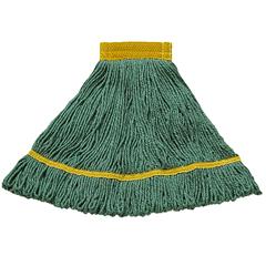 CFS369472B09CS - CarlislePremium Small Yellow Yarn Mop Heads with Green Band