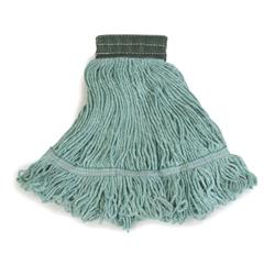 CFS369478B09CS - CarlislePremium Medium Green Yarn Mop Heads with Green Band