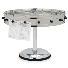 "CFS3820MPCS - Carlisle - 20 Clip Portable Order Wheel 23"" - Stainless Steel"