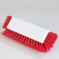 "CFS4042205CS - Carlisle - Dual Surface Polypropylene Floor Scrub With Side Bristles 12"" - Red"