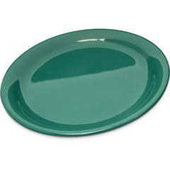 "CFS4300409CS - Carlisle - Durus® Melamine Narrow Rim Dinner Plate 9"" - Green"