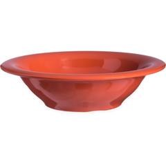 CFS4303652CS - Carlisle - Durus® Melamine Rimmed Bowl 12 oz - Sunset Orange