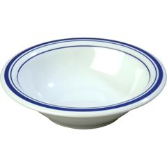 CFS43037912CS - CarlisleDurus® Melamine Rimmed Bowl 12 oz - London on White