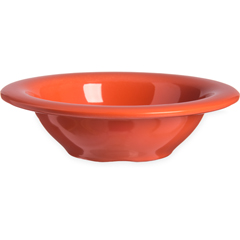 CFS4304252CS - Carlisle - Durus® Melamine Rimmed Fruit Bowl 4.5 oz - Sunset Orange