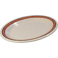 "CFS43083908CS - Carlisle - Mosaic Durus® Melamine Oval Platter Tray 12"" x 9.25"" - Sierra Sand on Sand"