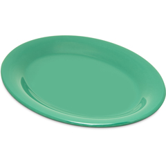 "CFS4308609CS - Carlisle - Durus® Melamine Oval Platter Tray 9.5"" x 7.25"" - Green"