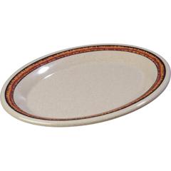 "CFS43087908CS - Carlisle - Durus® Melamine Oval Platter Tray 9.5"" x 7.25"" - Sierra Sand on Sand"