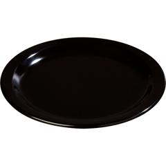 "CFS4350103CS - Carlisle - Dallas Ware® Melamine Dinner Plate 9"" - Black"