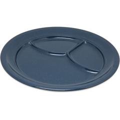 "CFS4351435CS - Carlisle - Dallas Ware® Melamine 3-Compartment Plate 9.75"" - Caf Blue"