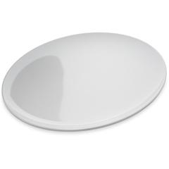 "CFS4380002CS - Carlisle - Epicure® Melamine Buffet Pizza Plate 12"" - White"
