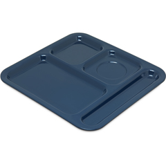 "CFS4398450CS - Carlisle4-Compartment Tray 10-1/8"", 9-25/32"", 1/2"" - Dark Blue"