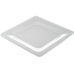 "CFS4440002CS - Carlisle - Designer Displayware Wide Rim Square Plate 12"" - White"