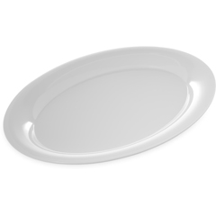 "CFS4441002CS - Carlisle - Designer Displayware Wide Rim Oval Platter 17"" x 13"" - White"
