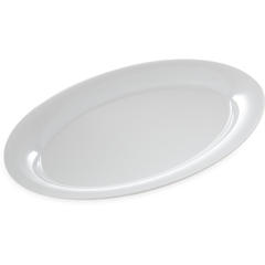 "CFS4441202CS - Carlisle - Designer Displayware Wide Rim Oval Platter 21"" x 15"" - White"